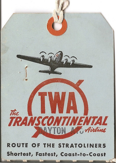 TWA-TRAVEL TAGS 100s